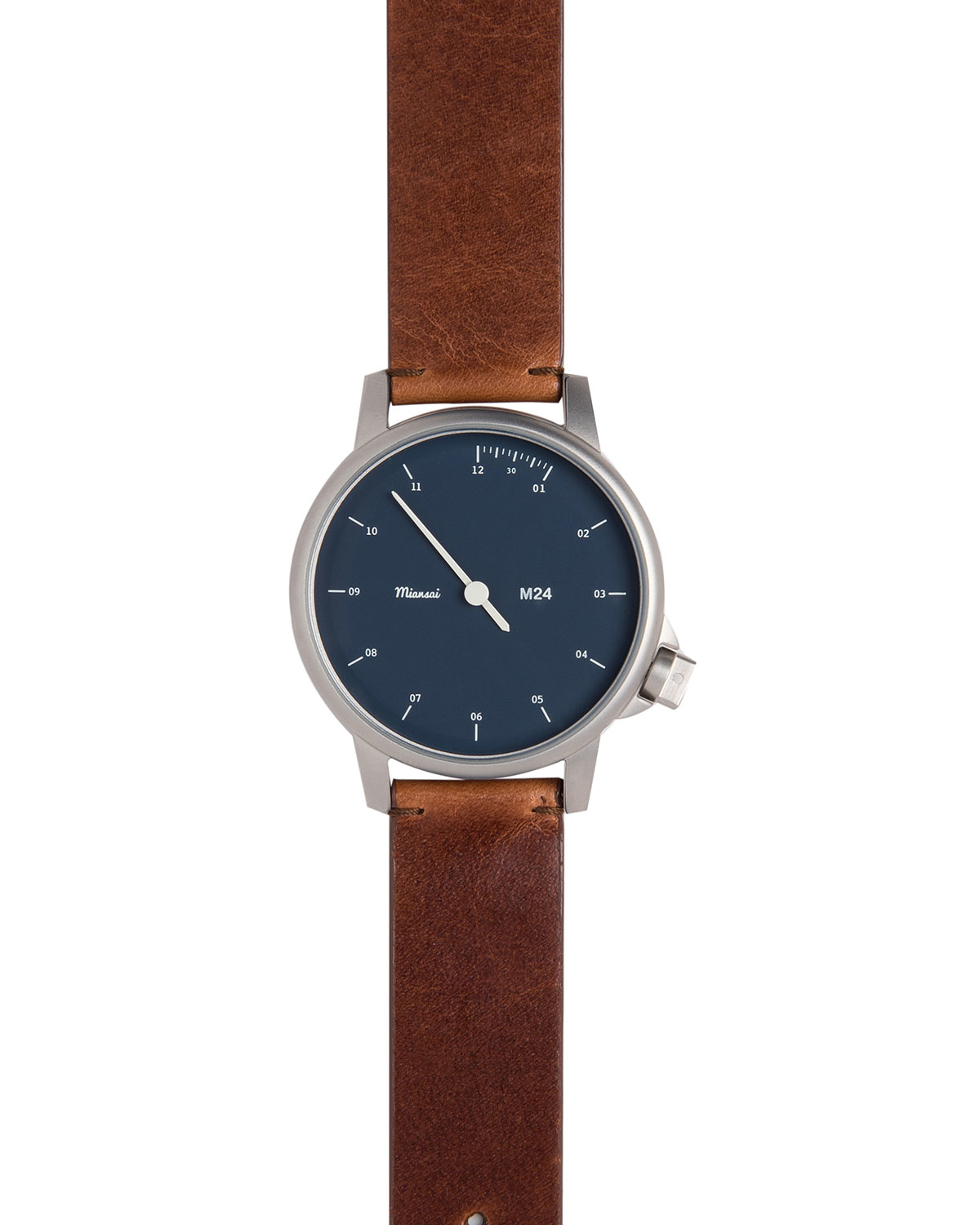 miansai stainless steel with leather in brown