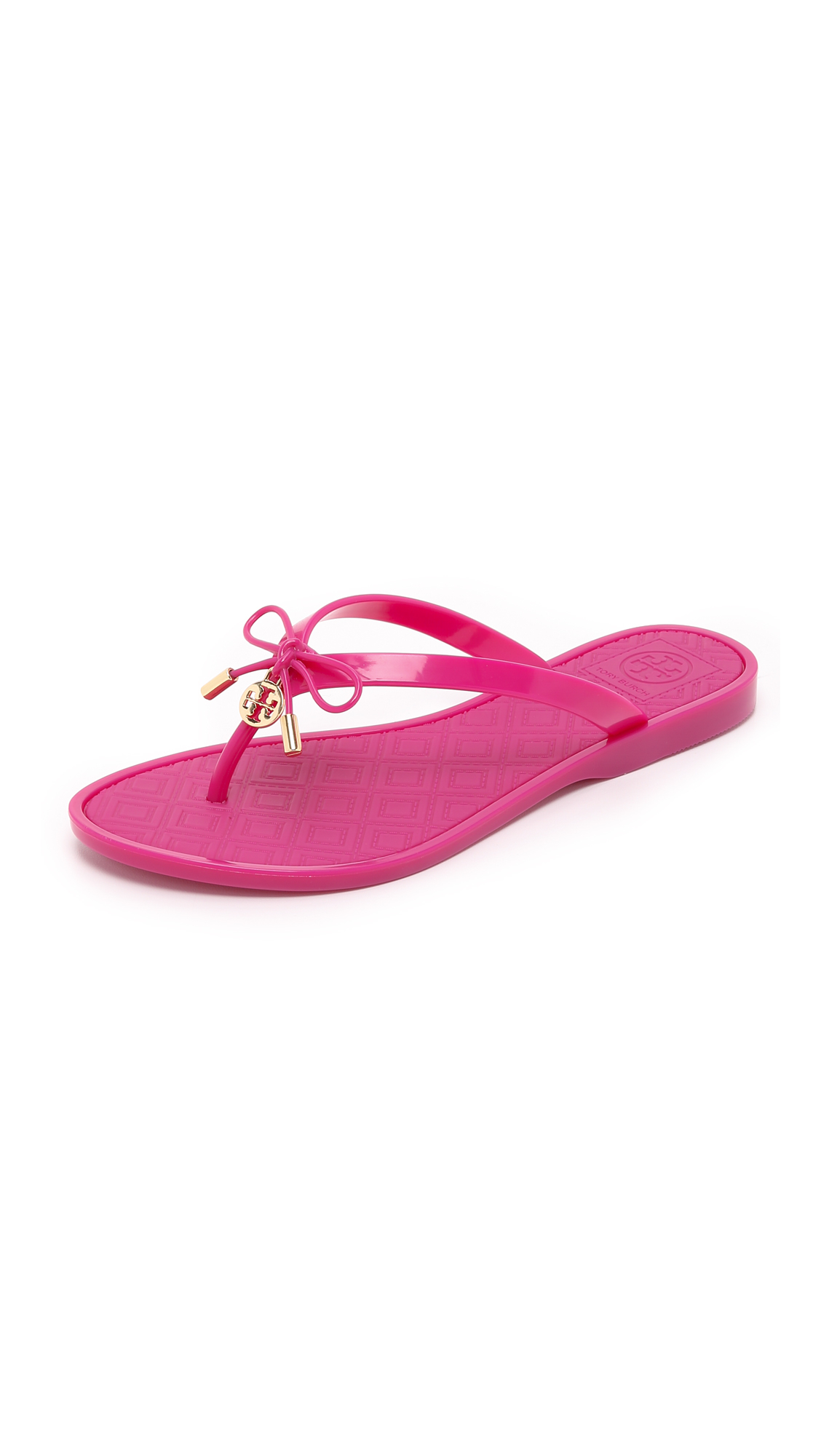 40a07238eab Lyst - Tory Burch Jelly Bow Thong Sandals in Pink
