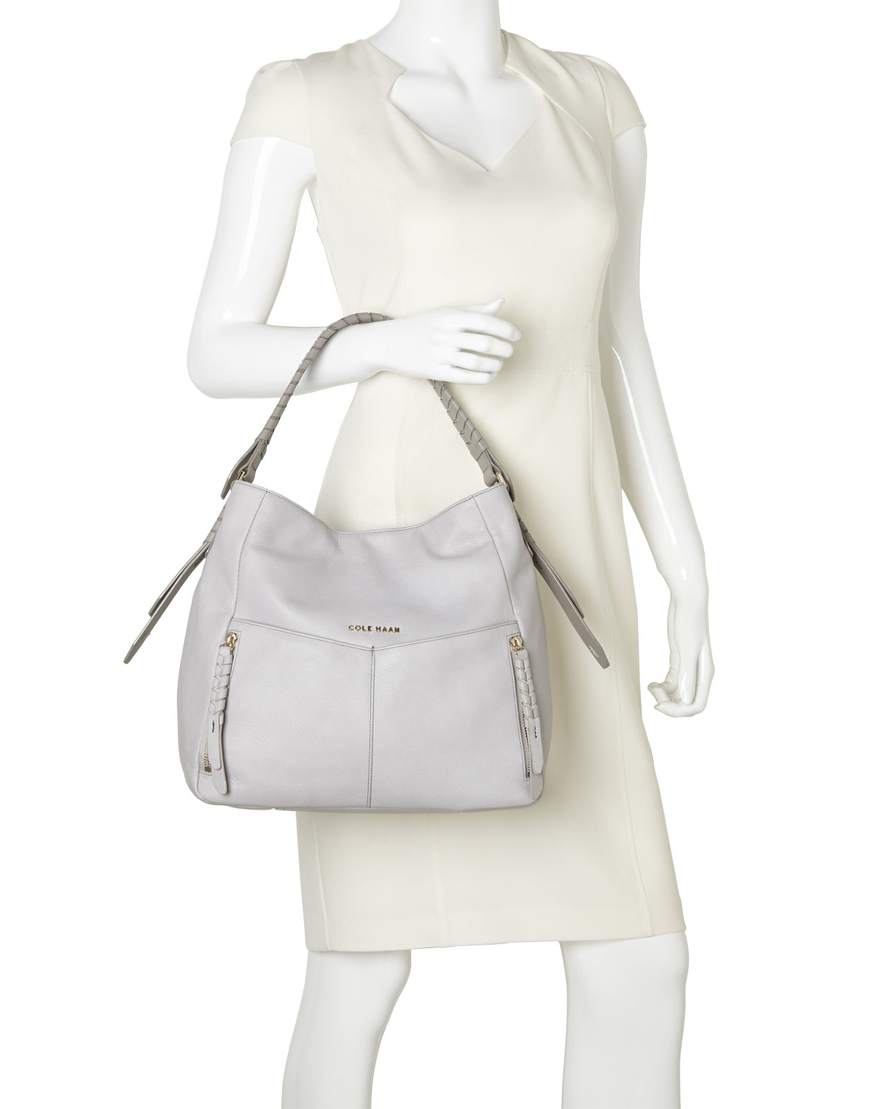 c33401856833 Lyst - Cole Haan Paloma Felicity Hobo in White