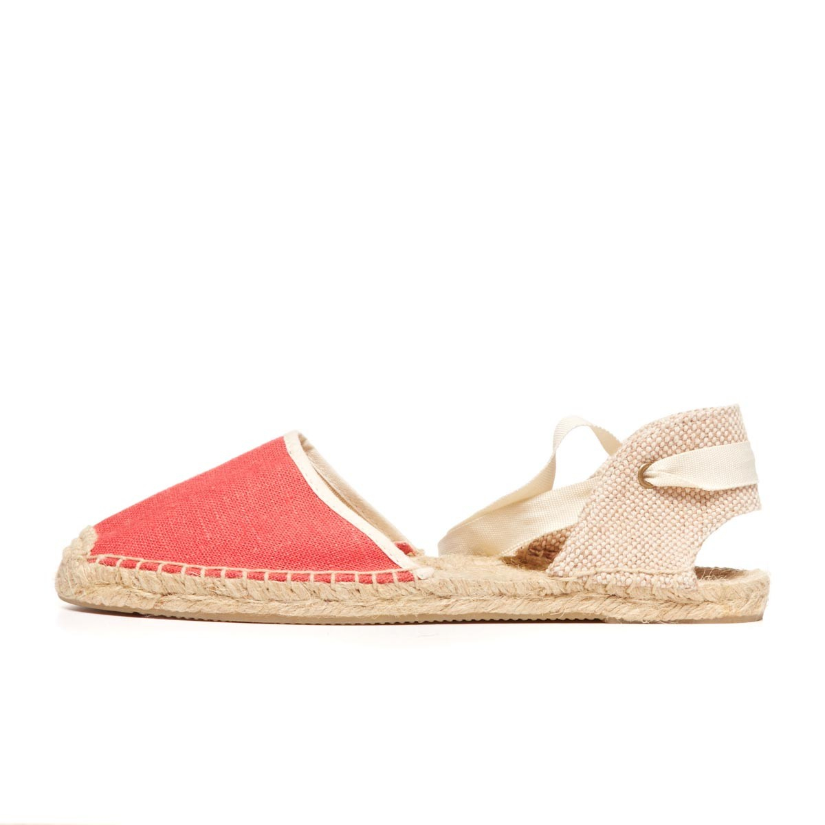 Soludos Knobby Linen Sandal in Pink - Lyst