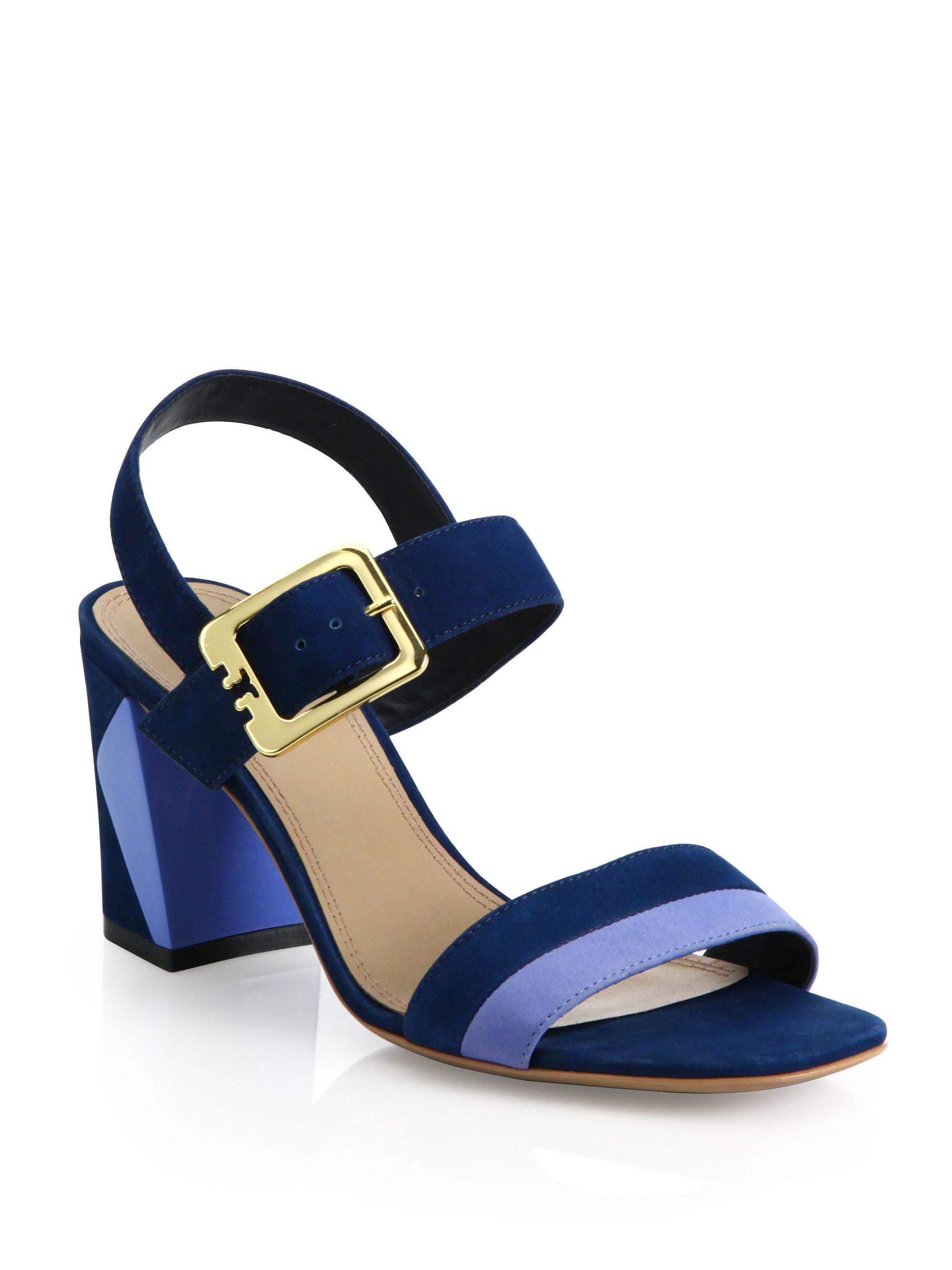 90fd155f808 Lyst - Tory Burch Palermo Sandal in Blue