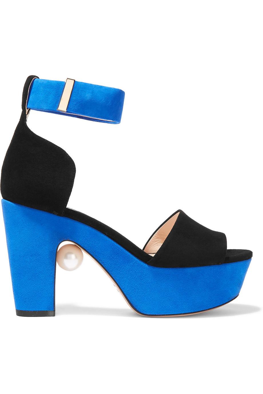 nicholas kirkwood two tone suede platform sandals in