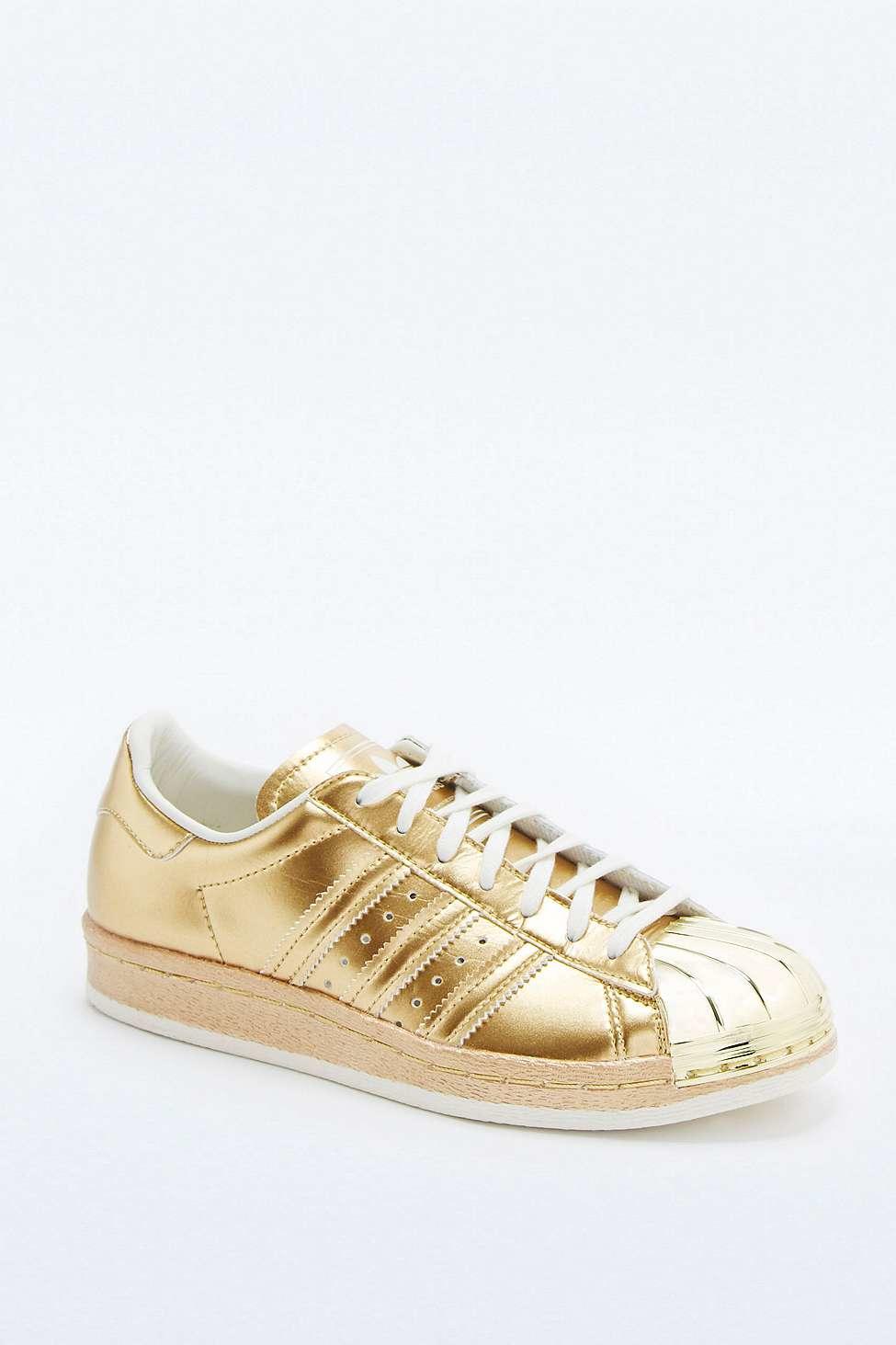 eb3ecef34ada adidas Originals Superstar 80s Metallic Gold Trainers in Metallic - Lyst