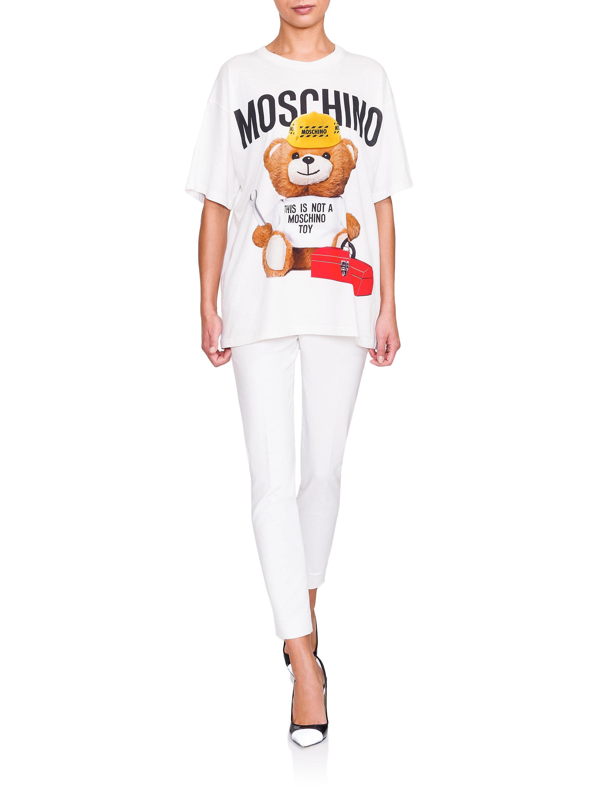 Lyst Moschino Teddy Bear Logo Tee In White