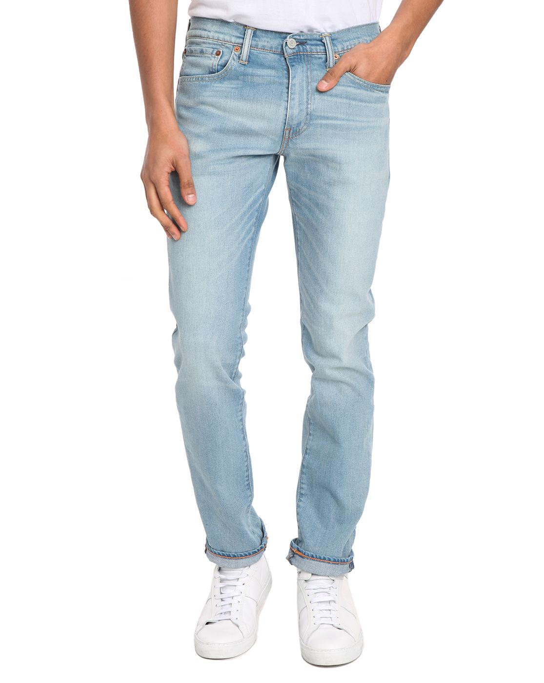 levi 39 s blue 511 slim fit light stone rinsed jean for men. Black Bedroom Furniture Sets. Home Design Ideas