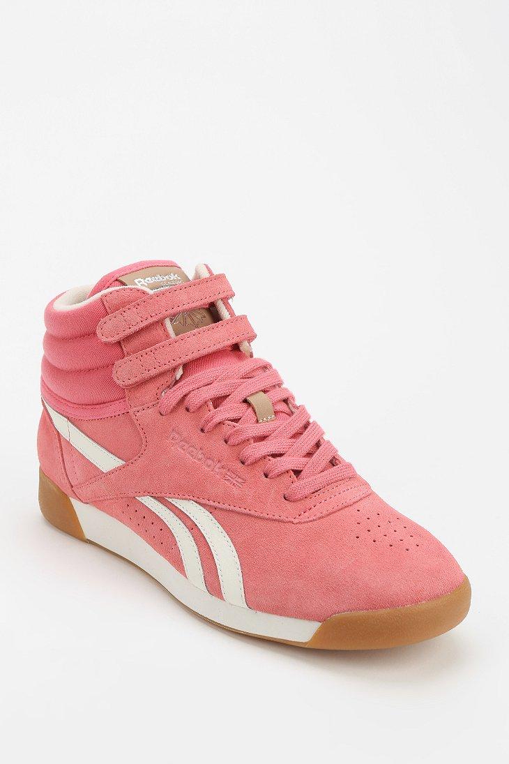 Lyst Reebok Freestyle Suede Hightop Sneaker In Pink