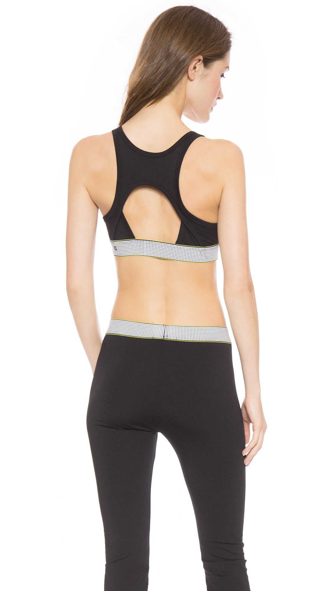 7c3e26208c Lyst - T By Alexander Wang High Density Lux Ponte Sports Bra - Acid ...