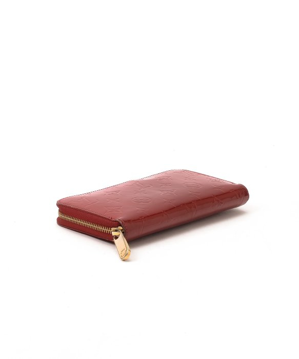 ebf35719 Lyst - Louis Vuitton Guaranteed Authentic Pre-Owned Zippy Wallet in Red