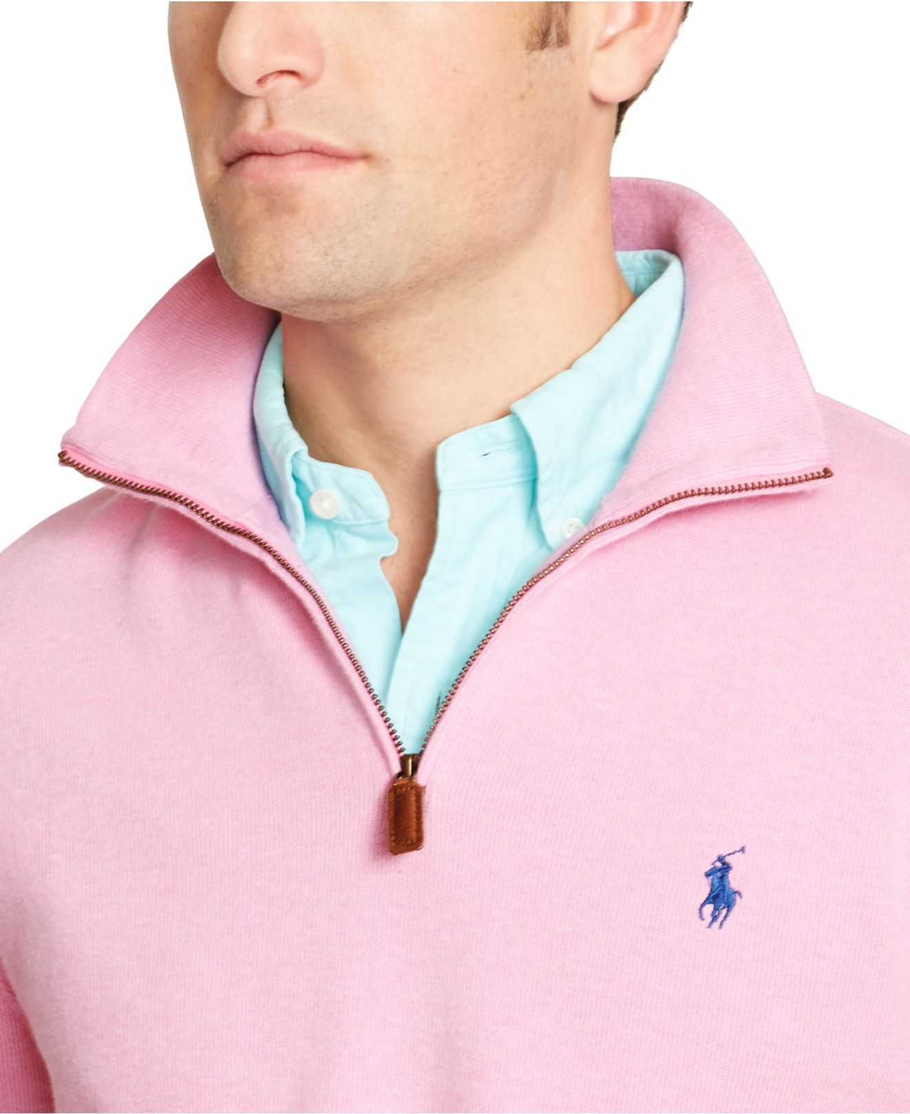 Polo Ralph Lauren French-Rib Full-Zip Pink Hoodie .
