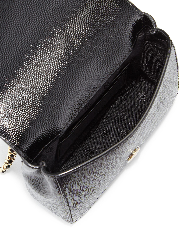 36f84497f8f2 Lyst - Tory Burch Kira Deco Chain Shoulder Bag in Black