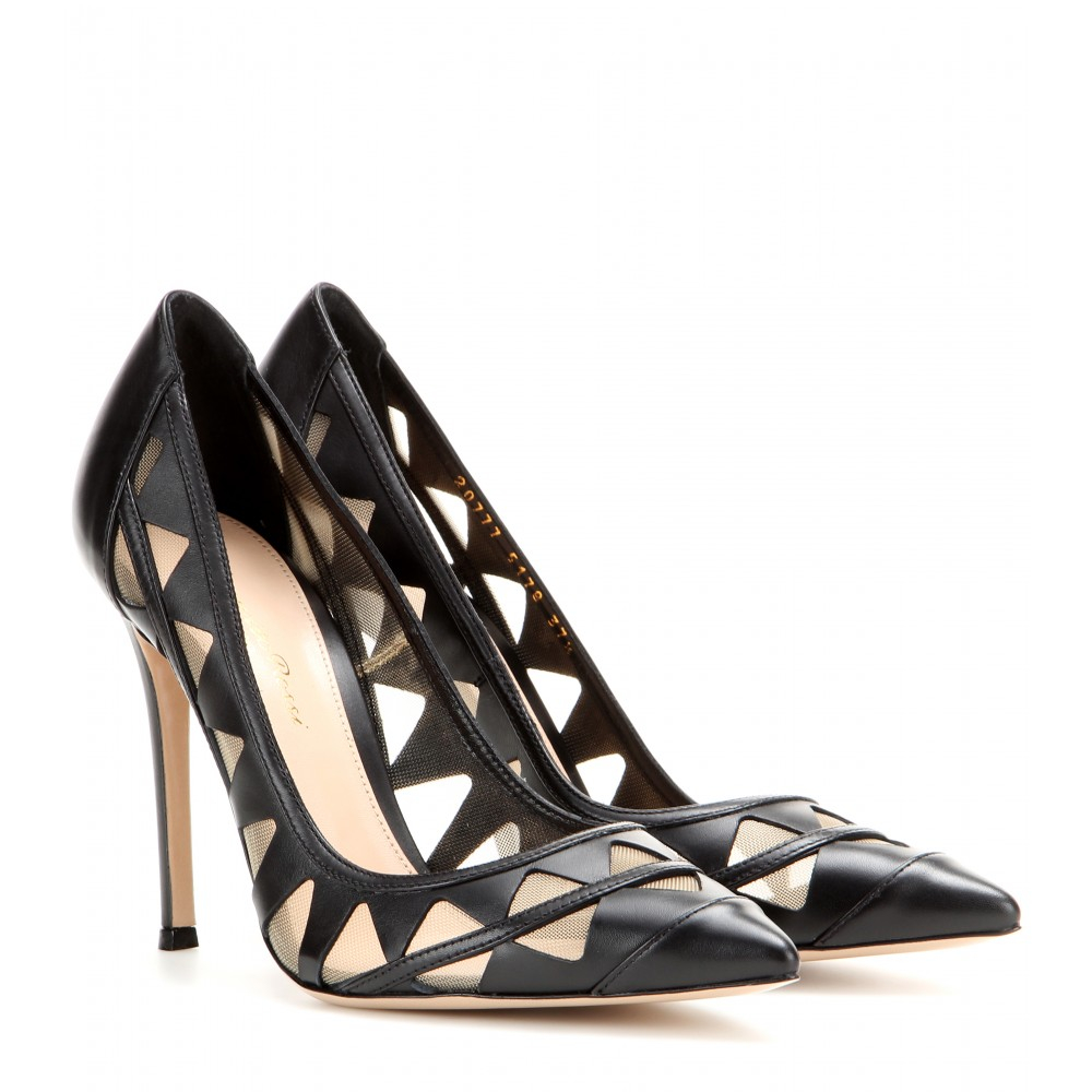 Gianvito Rossi Leather Cut-Out Pumps clearance big discount GJ5GOa