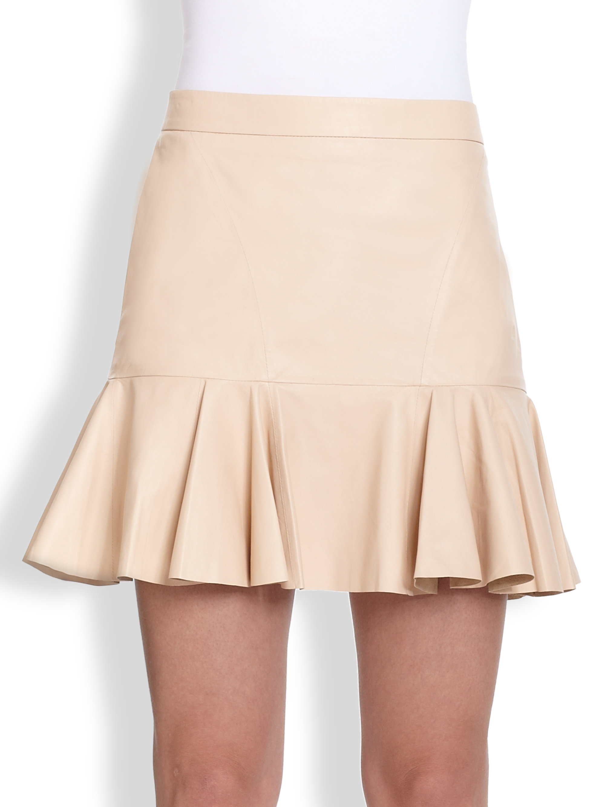 Leather frill skirt – Modern skirts blog for you