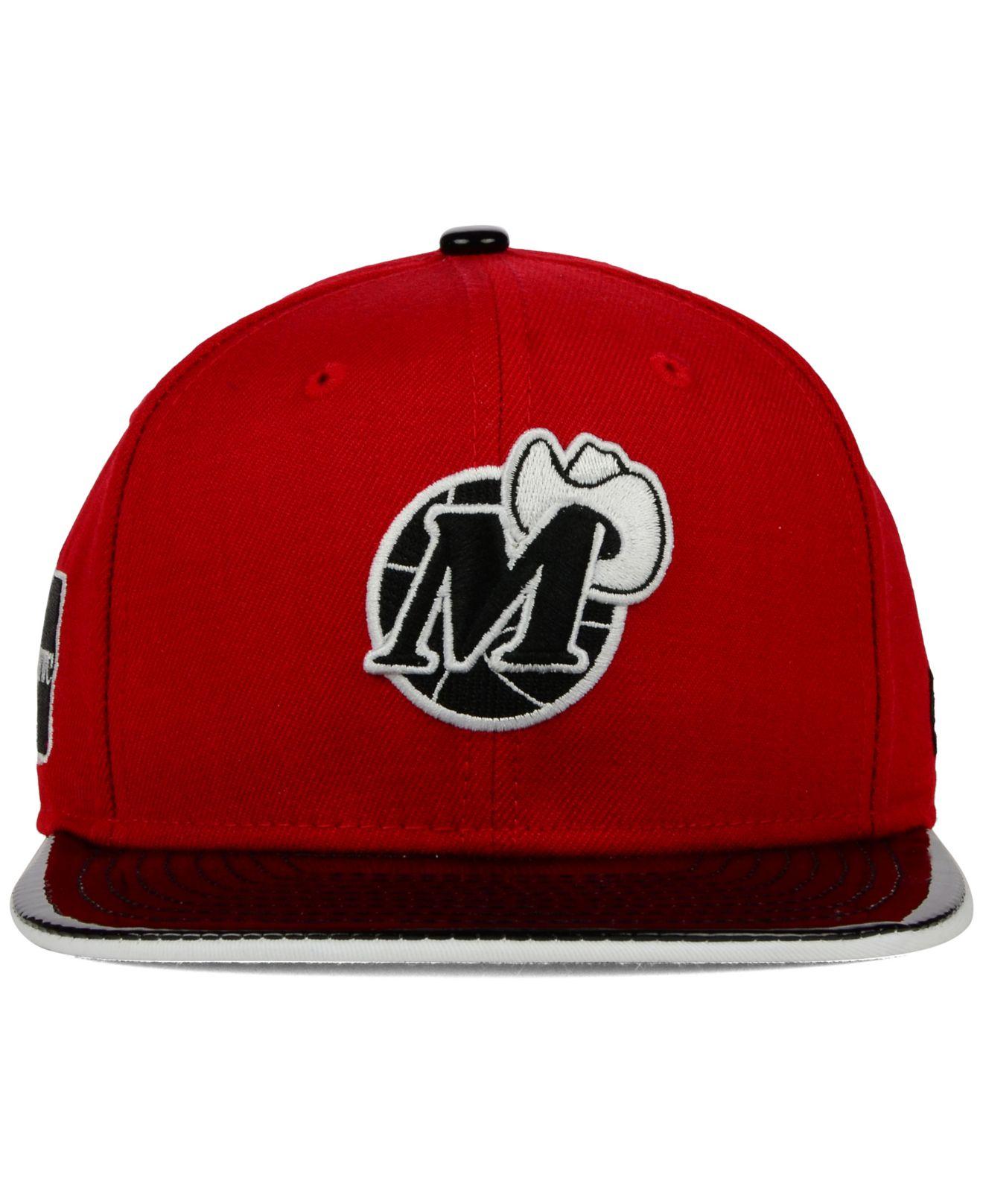new product 543a5 d7241 KTZ Dallas Mavericks Bred Hookup 9fifty Snapback Cap in Red for Men ...
