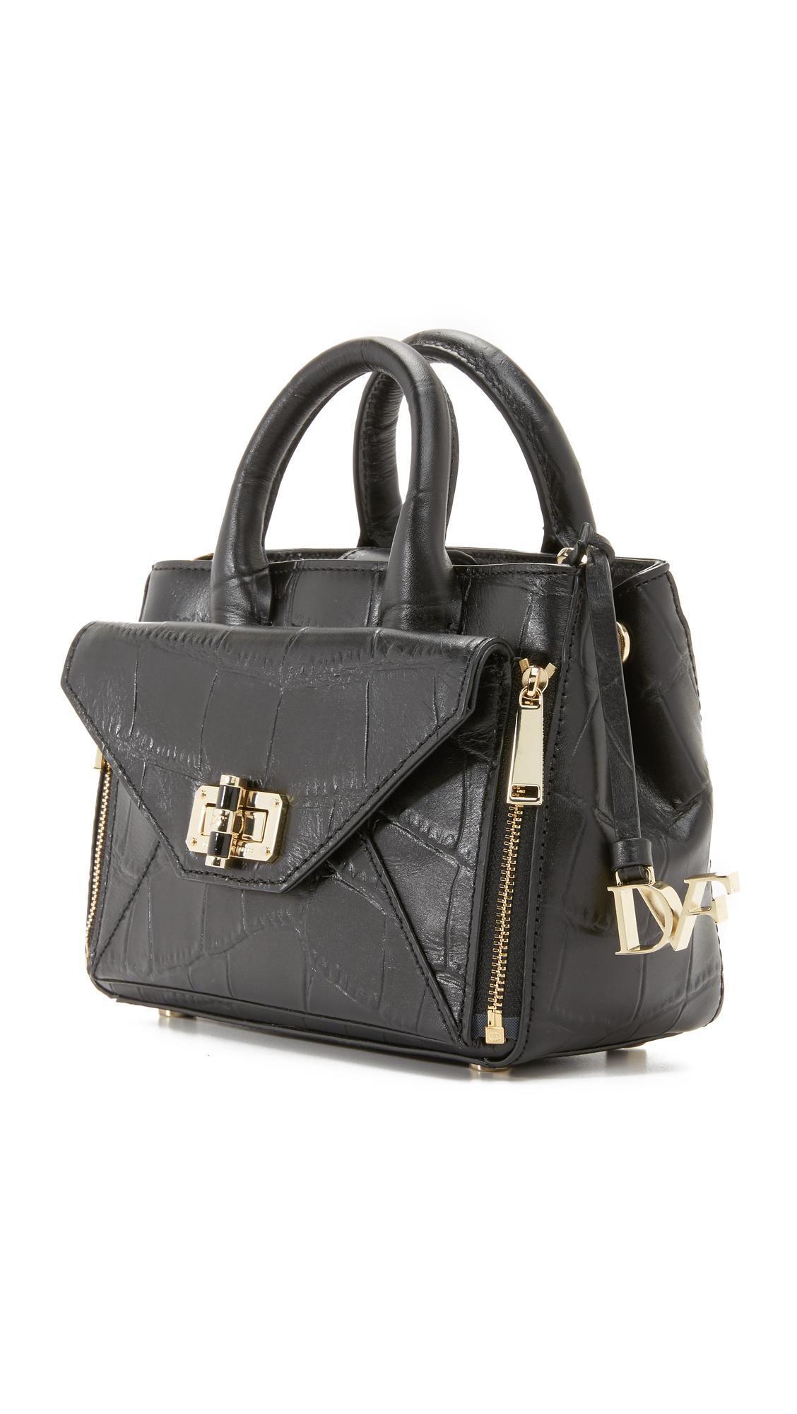 27909fe328 Lyst - Diane von Furstenberg 440 Gallery Mini Secret Agent in Black