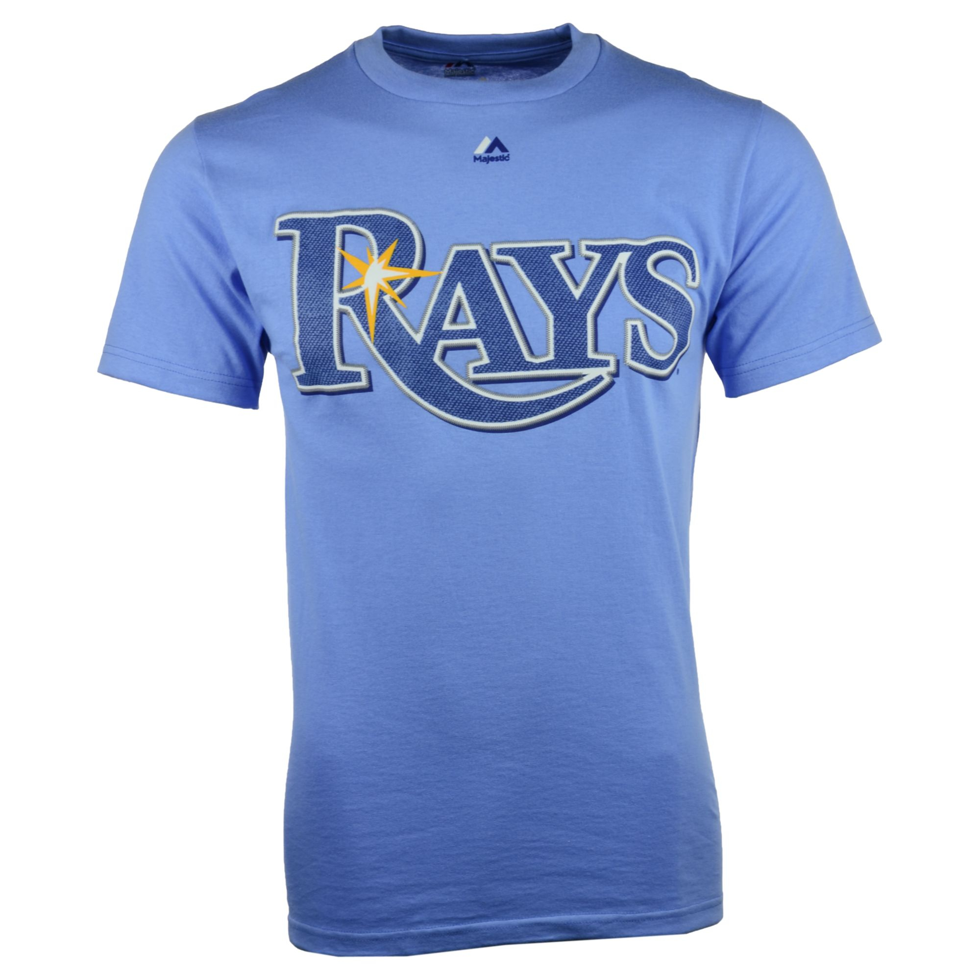 Majestic Men S Short Sleeve Tampa Bay Rays T Shirt In Blue