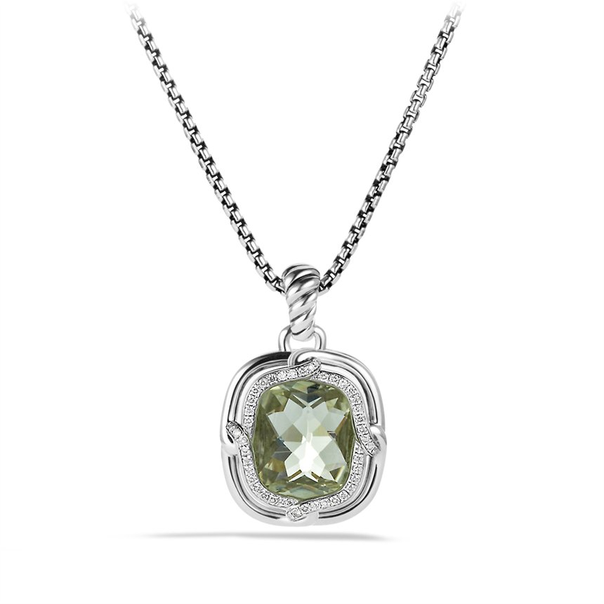 bf0c37d721e28c Lyst - David Yurman Labyrinth Large Pendant with Prasiolite and ...