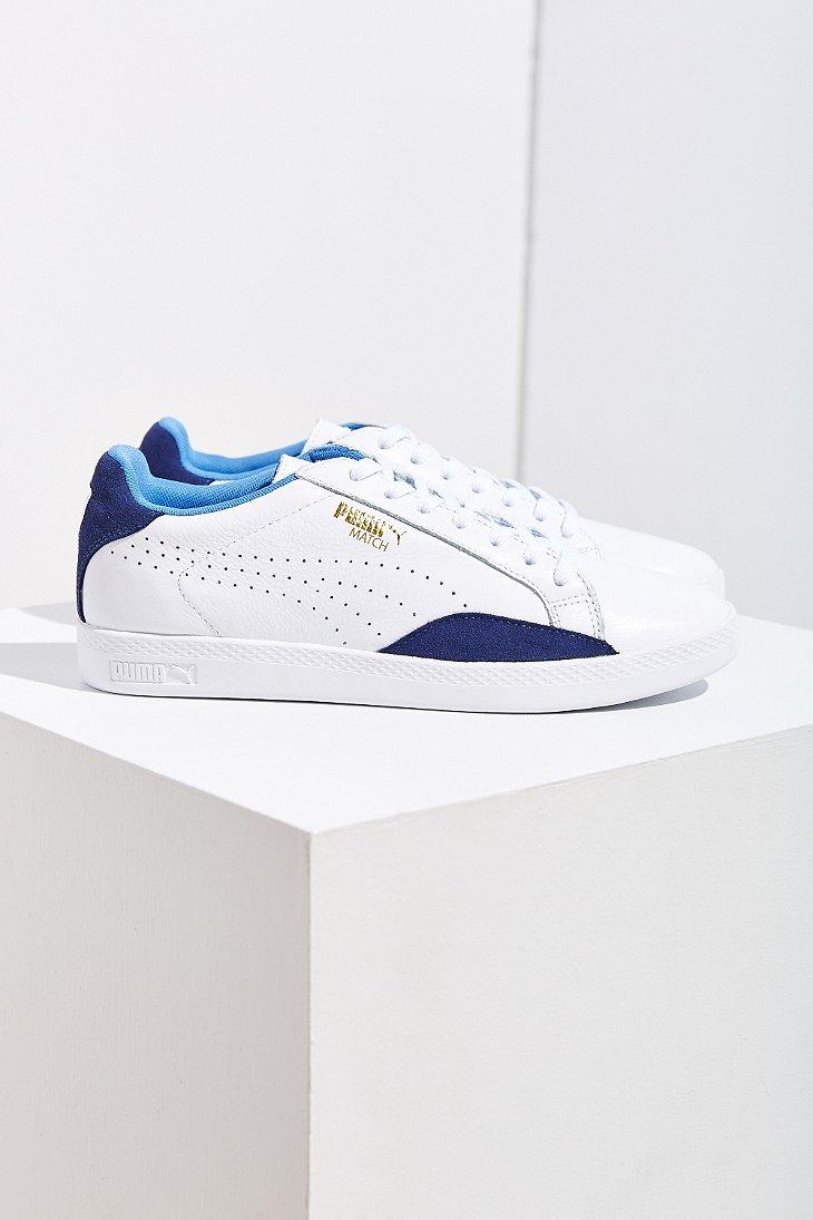 e1dc943470a Lyst - PUMA Match Leather Low-top Basic Sport Sneaker in Blue