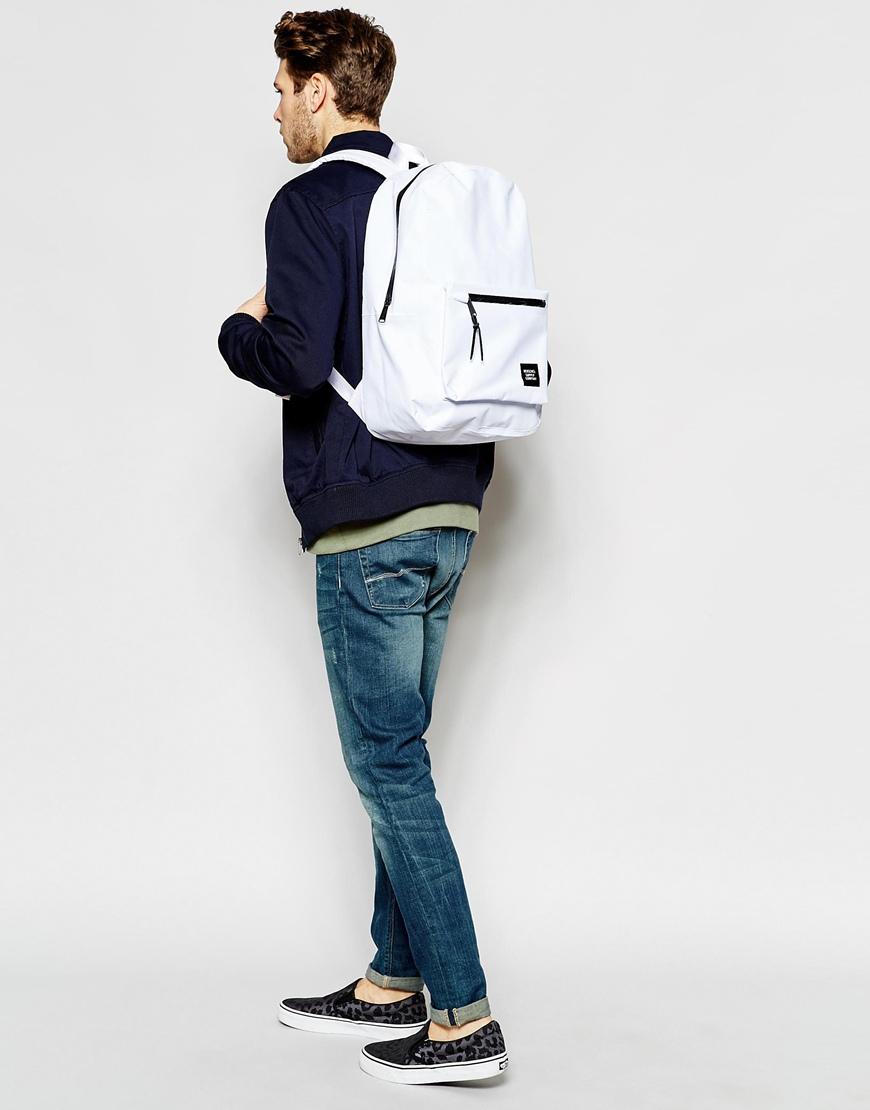 Lyst - Herschel Supply Co. 21L Settlement Studio Backpack in White for Men c7d24e2ae15af