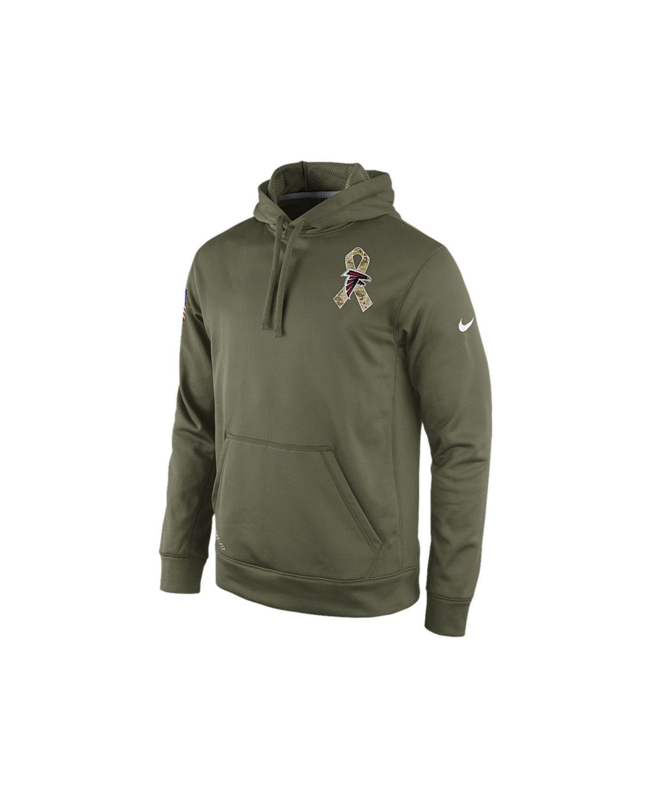 1dd60c083a3 Nike Atlanta Falcons Nfl Mens Salute To Service Ko Hoodie in Green ...