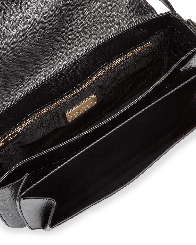 11a6928cea Lyst - Ferragamo Sandrine Medium Saffiano Shoulder Bag in Black