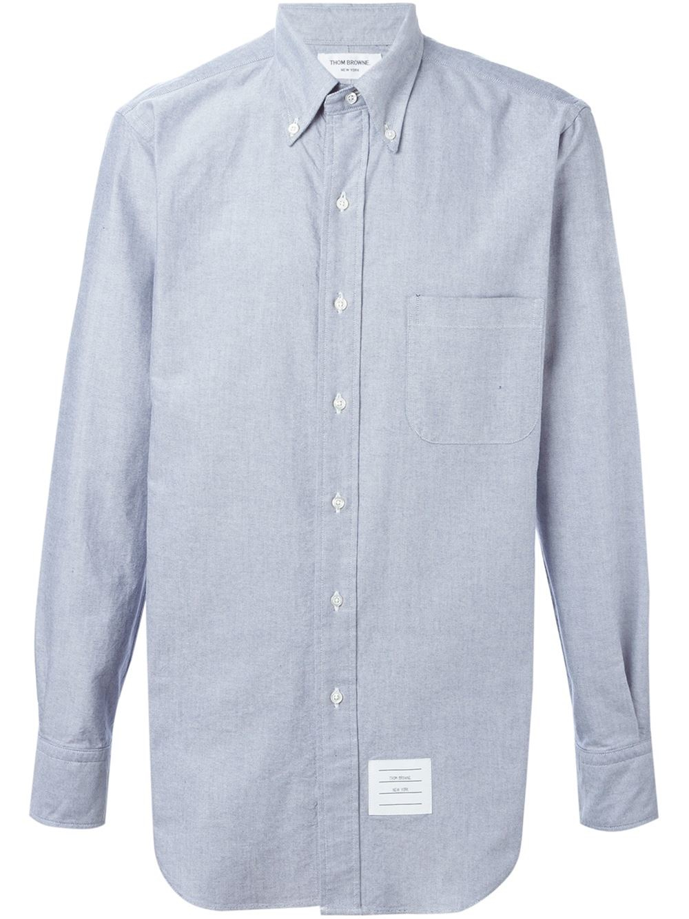 Thom browne pocket shirt in blue for men lyst for Thom browne shirt sale