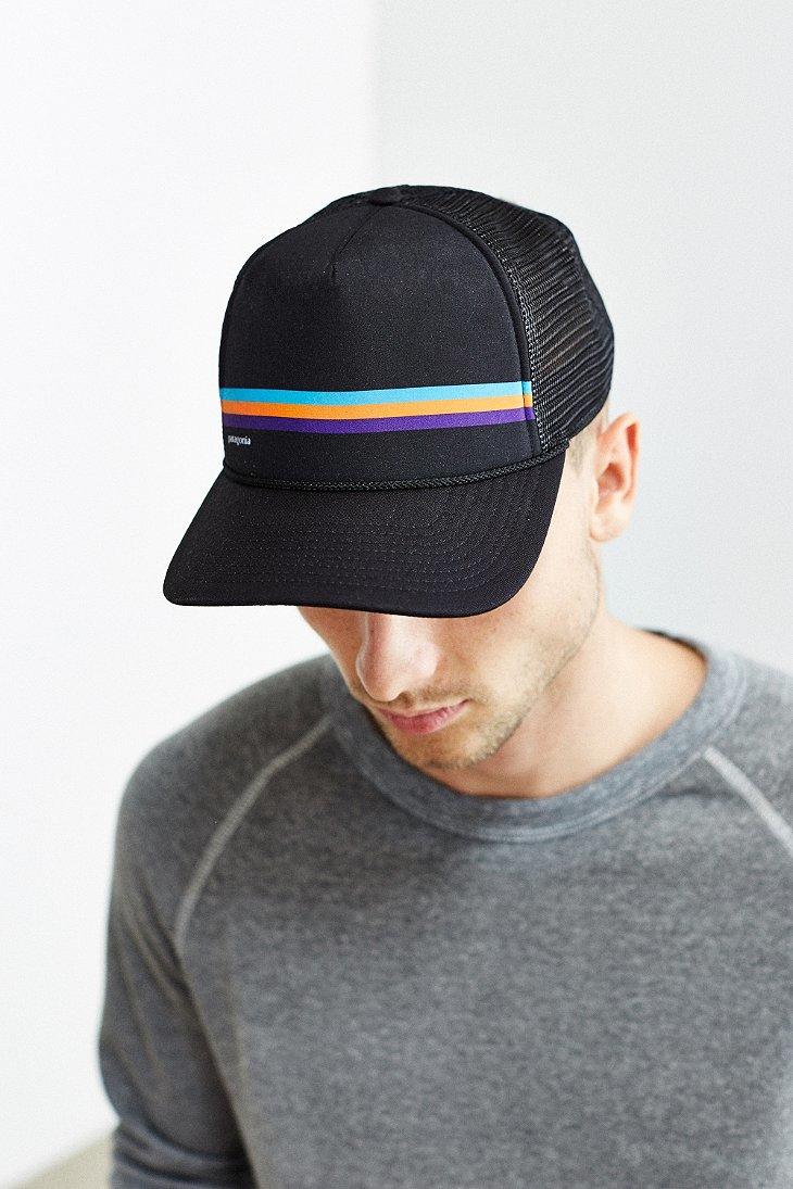 Lyst - Patagonia Fitz Roy Lopro Trucker Hat in Black for Men 0c6d75f86de