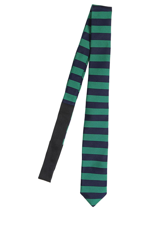 bd1839c92495 ... hot lyst burberry prorsum 5cm striped linen tie in blue for men e8793  ded9e