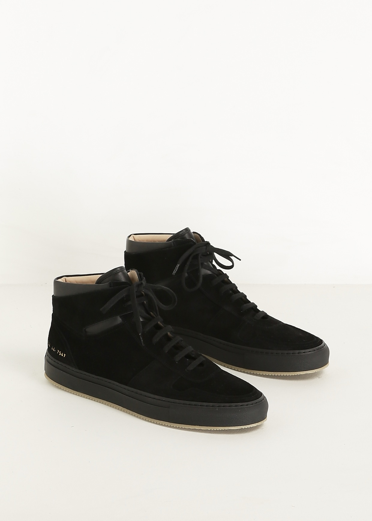 95a68249174 Lyst - Common Projects Black Bball High Suede Sneaker in Black for Men