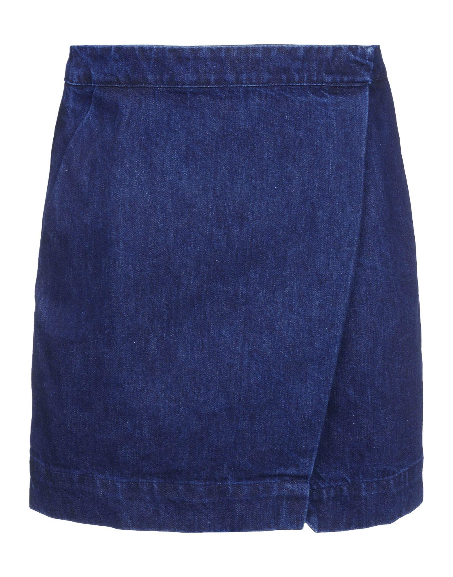 202 tre c 233 cile denim skirt in blue lyst