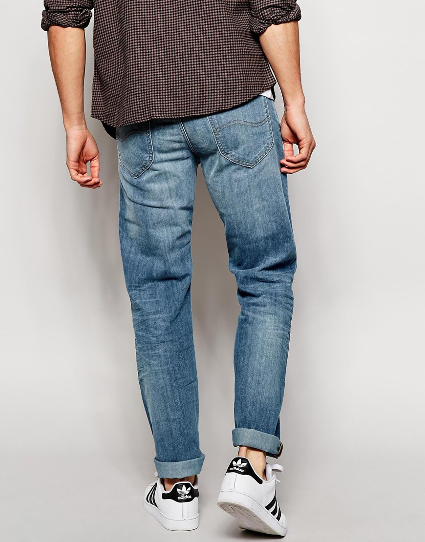 22221a70 Lee Jeans Jeans Daren Regular Slim Fit Water Stone Mid Wash in Blue ...