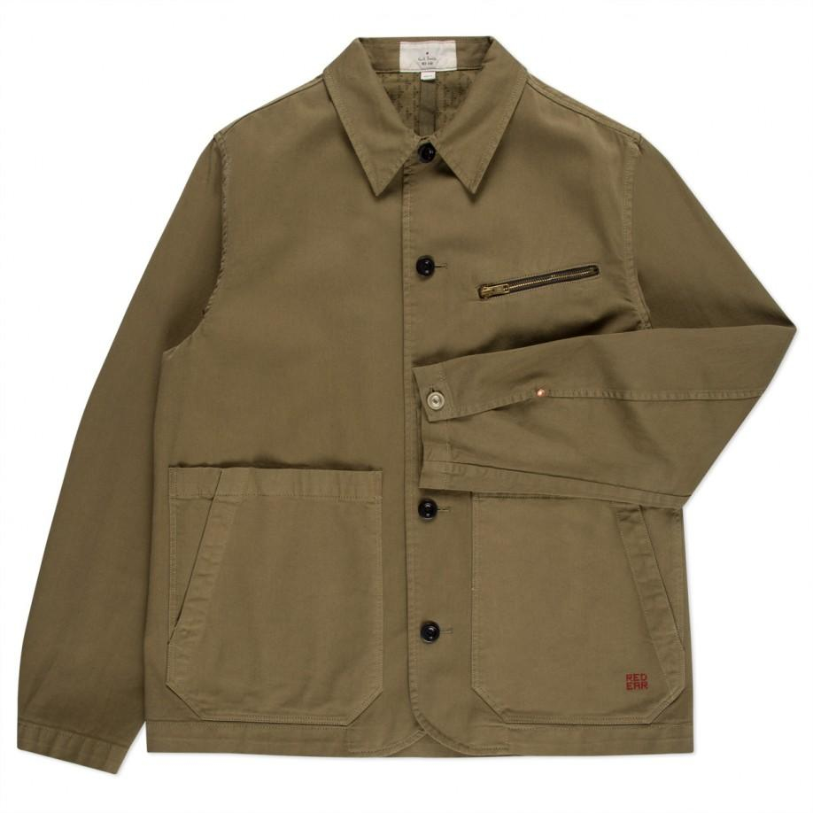 Paul Smith Men's Olive Green Cotton-twill Workwear Jacket ...