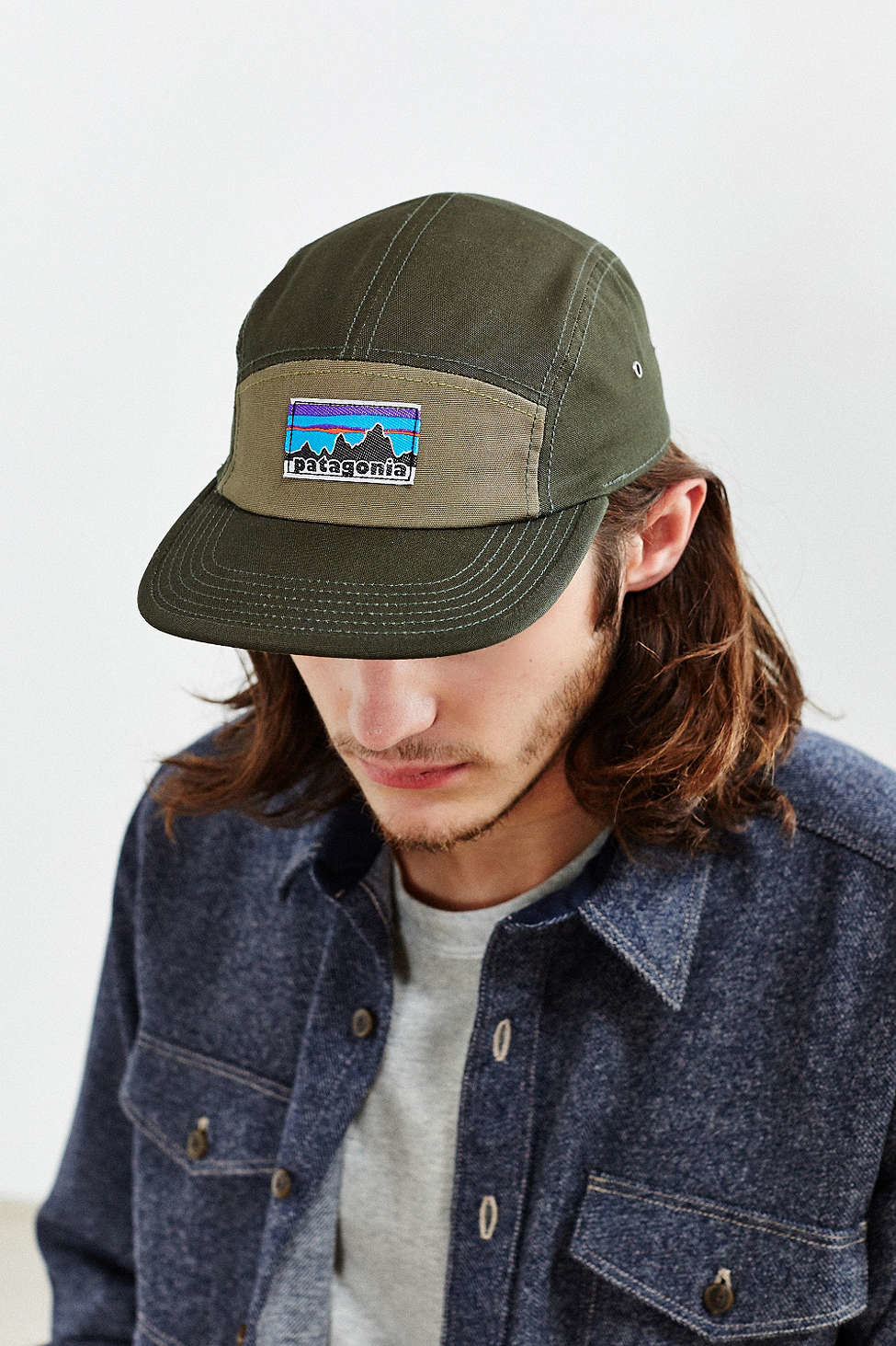Lyst - Patagonia Retro Fitz Roy Label 5-panel Baseball Hat for Men f015e153c7d