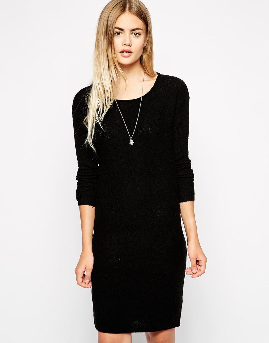 Long black jumper dress