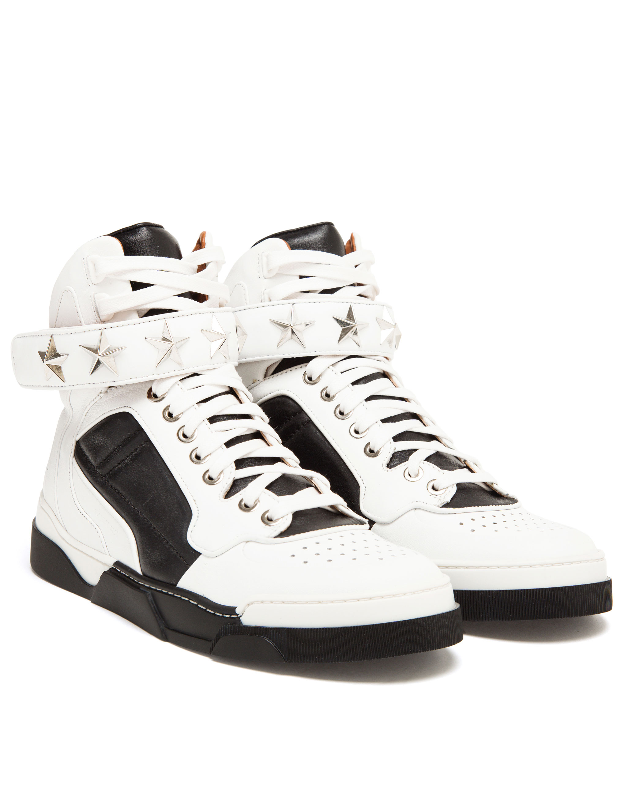Lyst - Givenchy Tyson Black Leather High Top Trainers in Black for Men 9378fac1b