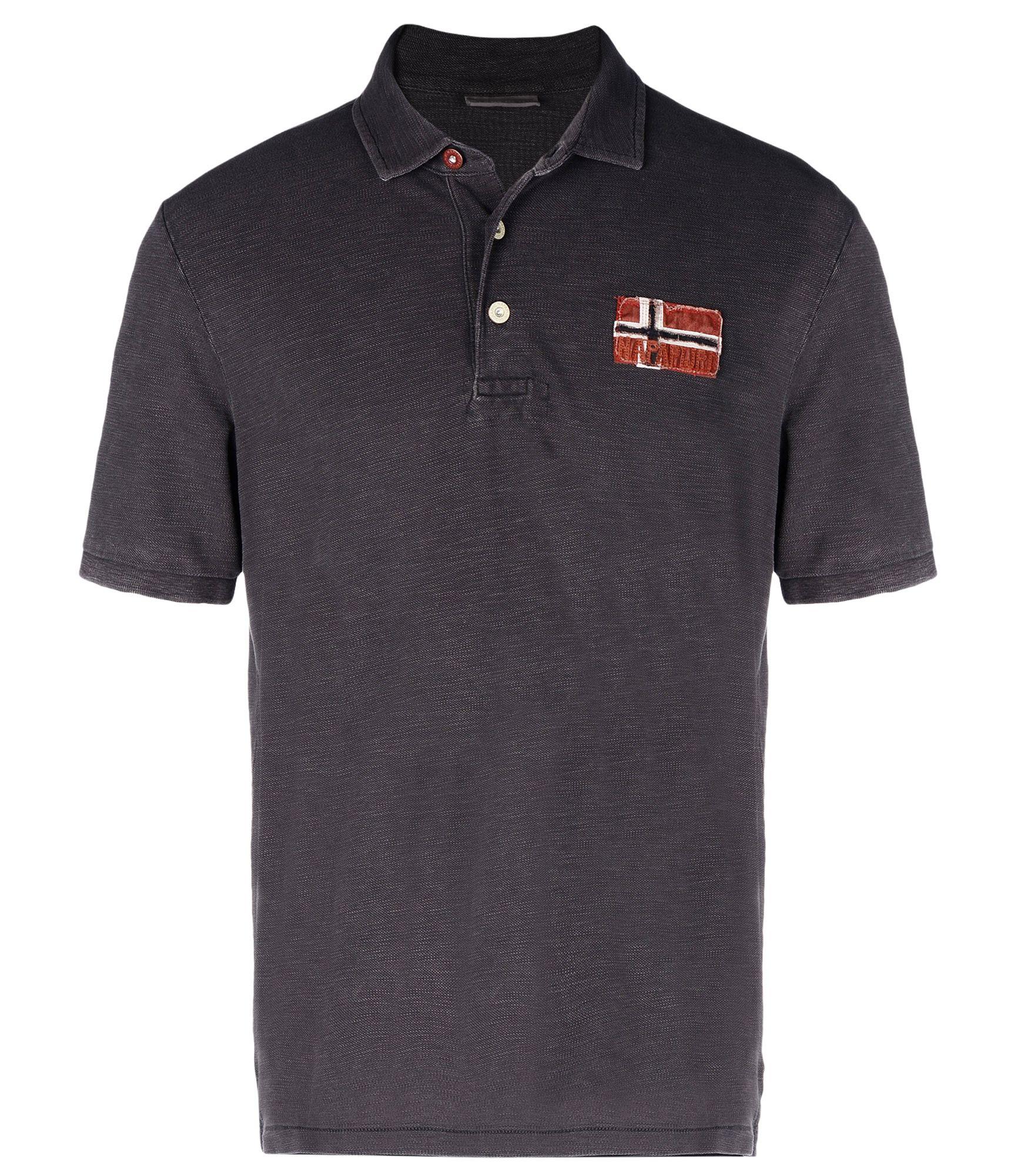napapijri polo shirt in gray for men lyst. Black Bedroom Furniture Sets. Home Design Ideas