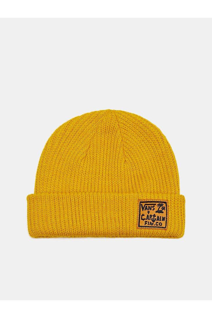 d6bd48be0965b Vans Captain Fin X Beanie in Yellow for Men - Lyst