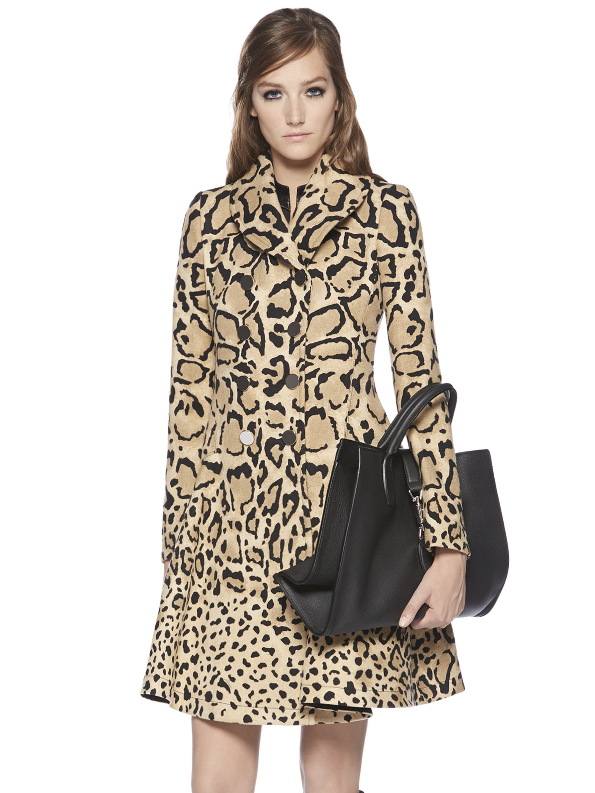 Gucci Leopard Print Double-breasted Wool Coat | Lyst