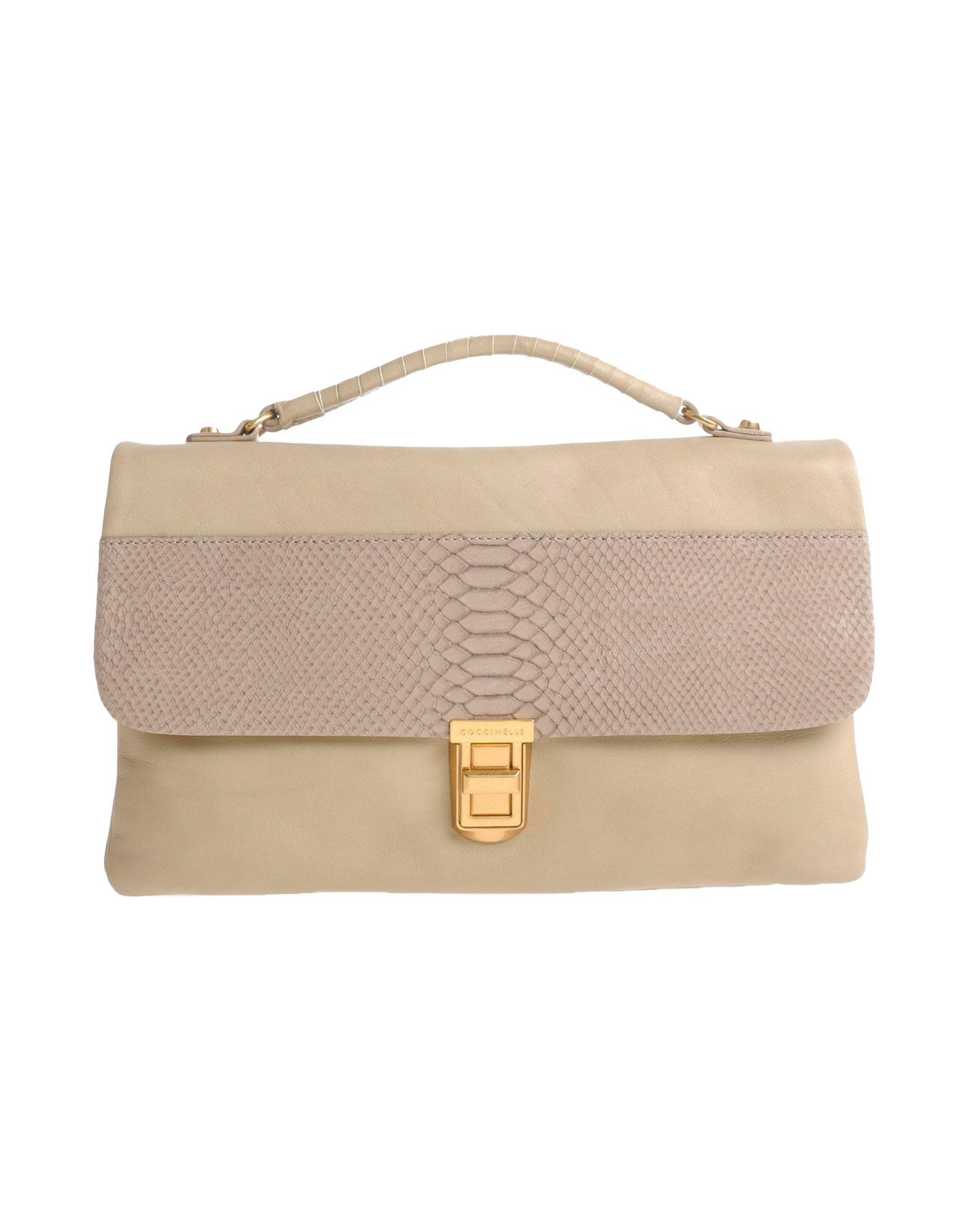 coccinelle handbag in beige lyst. Black Bedroom Furniture Sets. Home Design Ideas