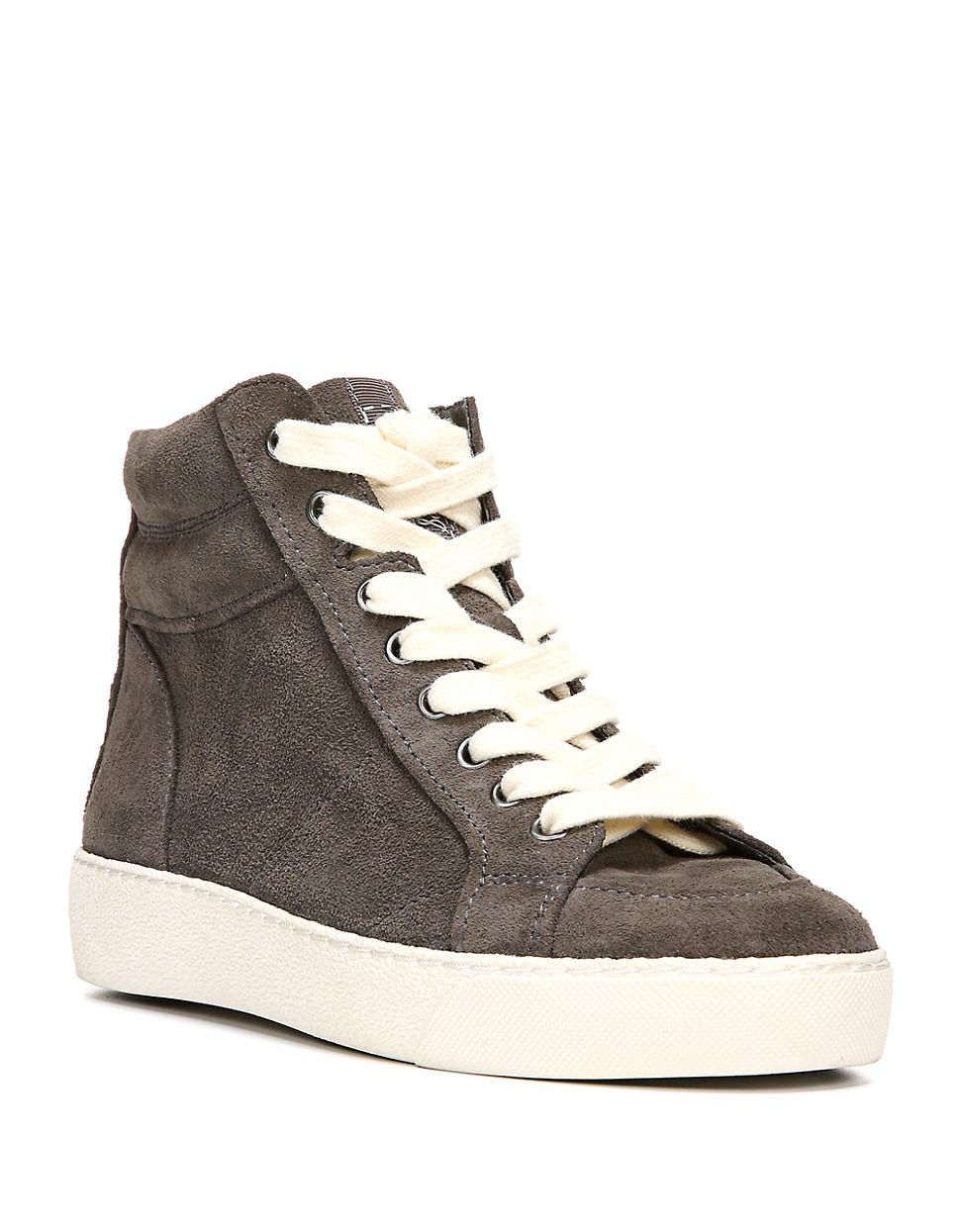 41f5723309a9 Lyst - Sam Edelman Britt Suede Hi-top Sneakers in Gray