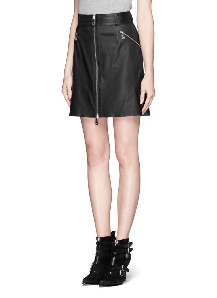 zip leather skirt dress ala