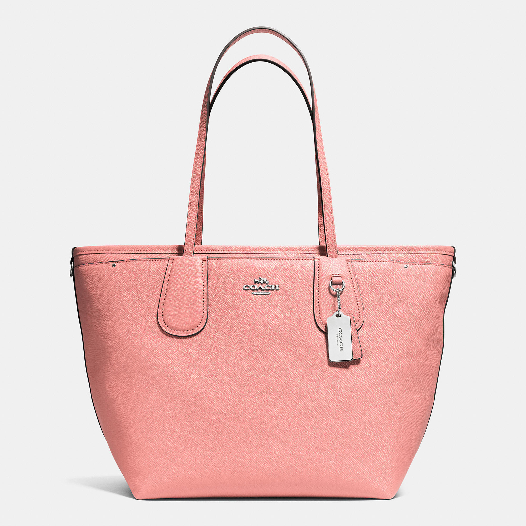 Lyst Coach Taxi Baby Bag Tote In Crossgrain Leather In Pink