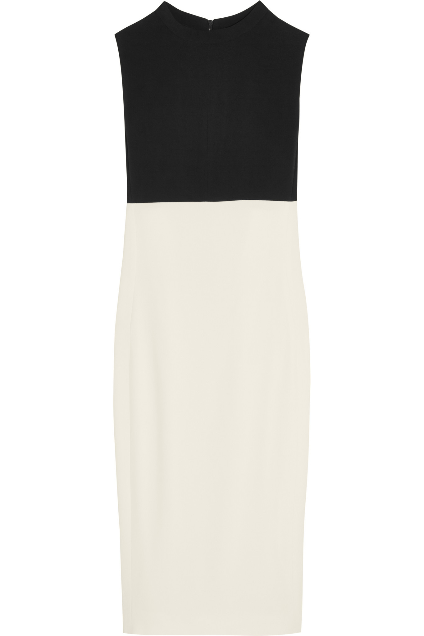 Narciso Rodriguez Two Tone Stretch Crepe Dress In Black Lyst