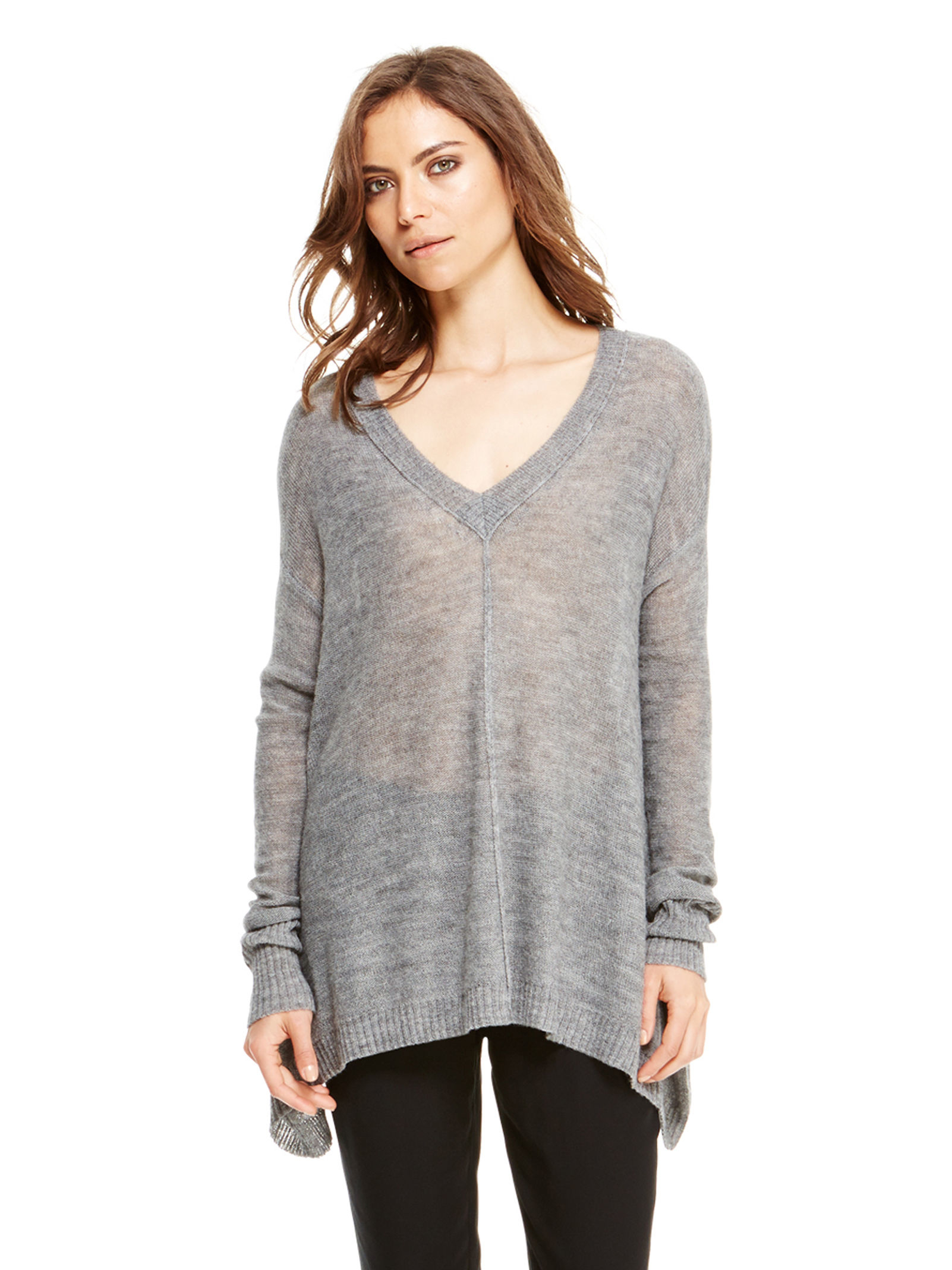 cec6f9bc69b Lyst - DKNY Pure V-neck Pullover in Gray