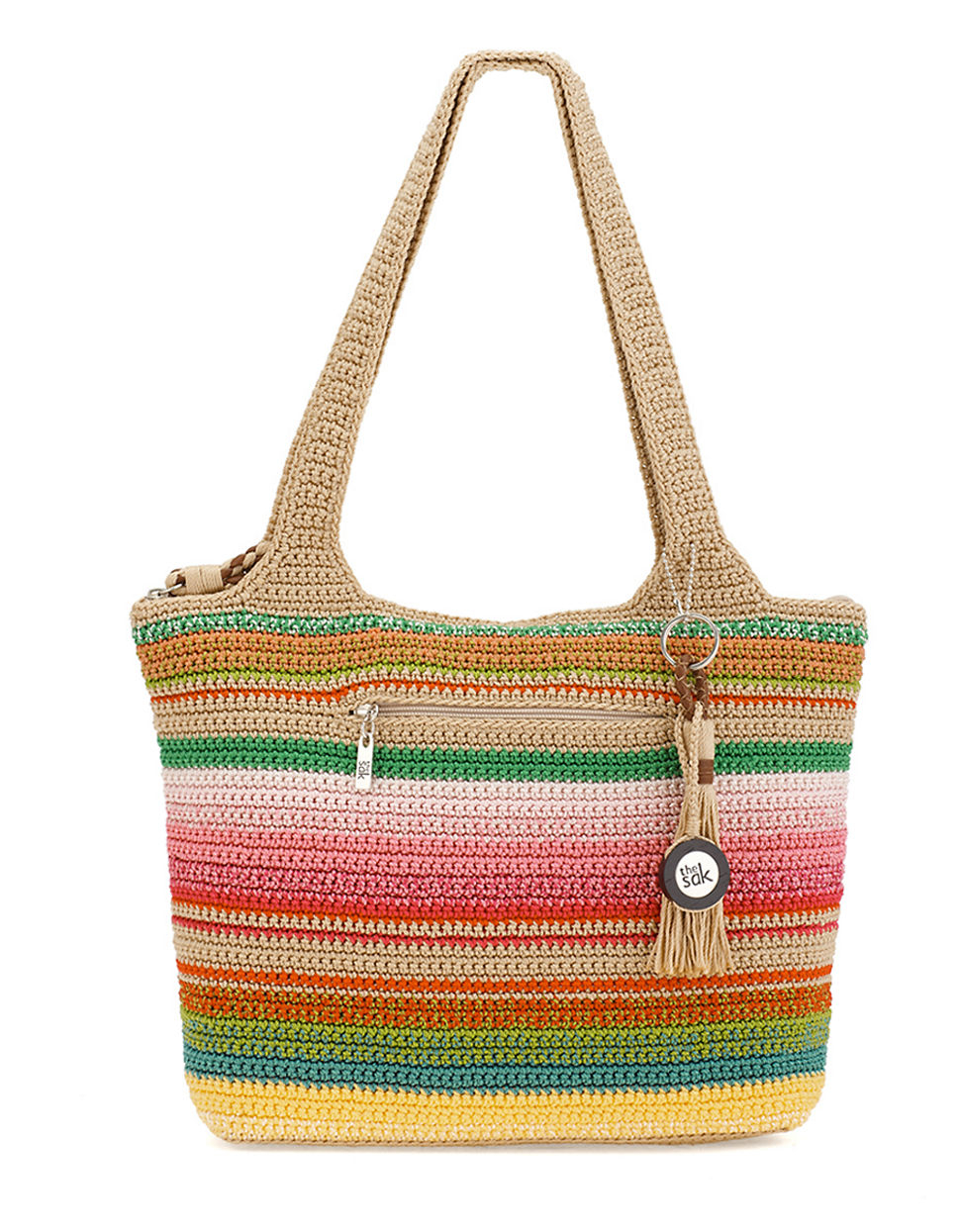 The Sak Bags Crochet : The Sak Crocheted Purse in Multicolor (PLAYA STRIPE) Lyst