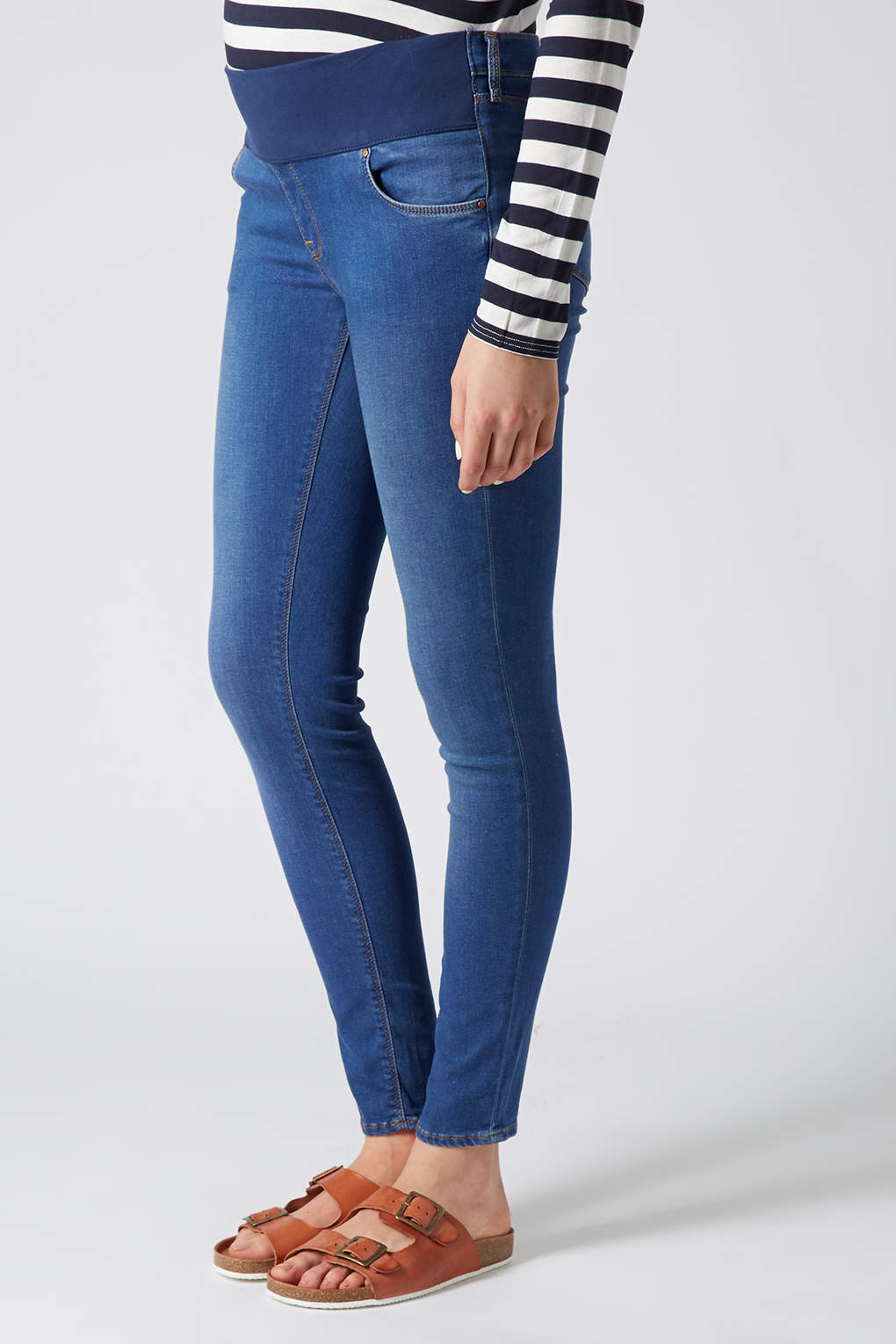 Topshop Maternity Moto Pansy Vintage Leigh Jeans in Blue | Lyst
