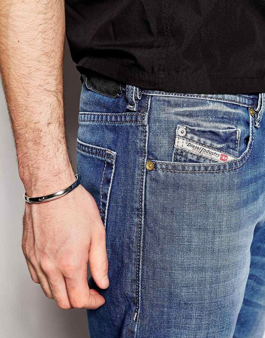 lyst diesel jeans buster 839c regular slim fit light wash in blue for men. Black Bedroom Furniture Sets. Home Design Ideas