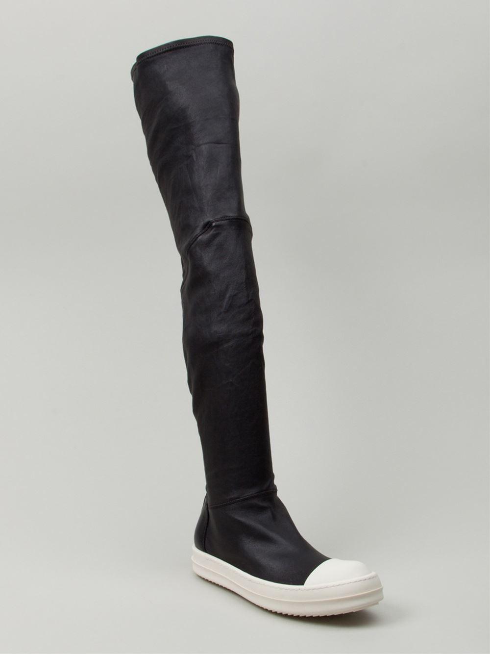 Rick Owens Thigh high sneaker boots yXvWYRIzN