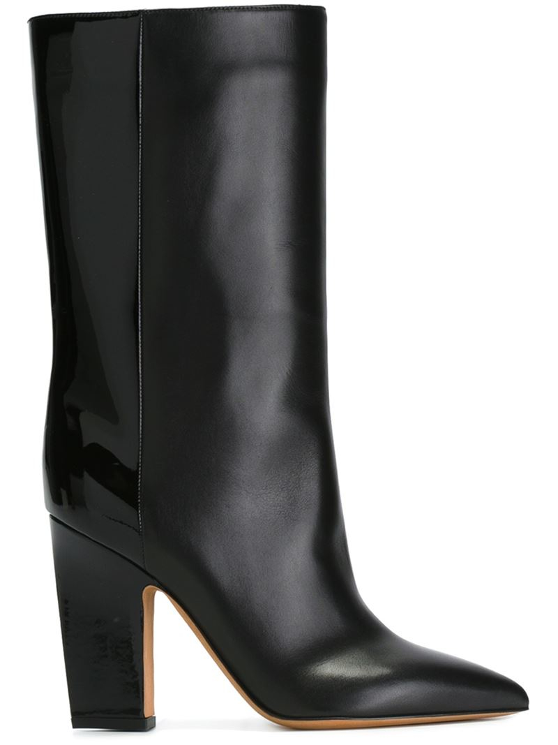 valentino pointed toe boots in black lyst