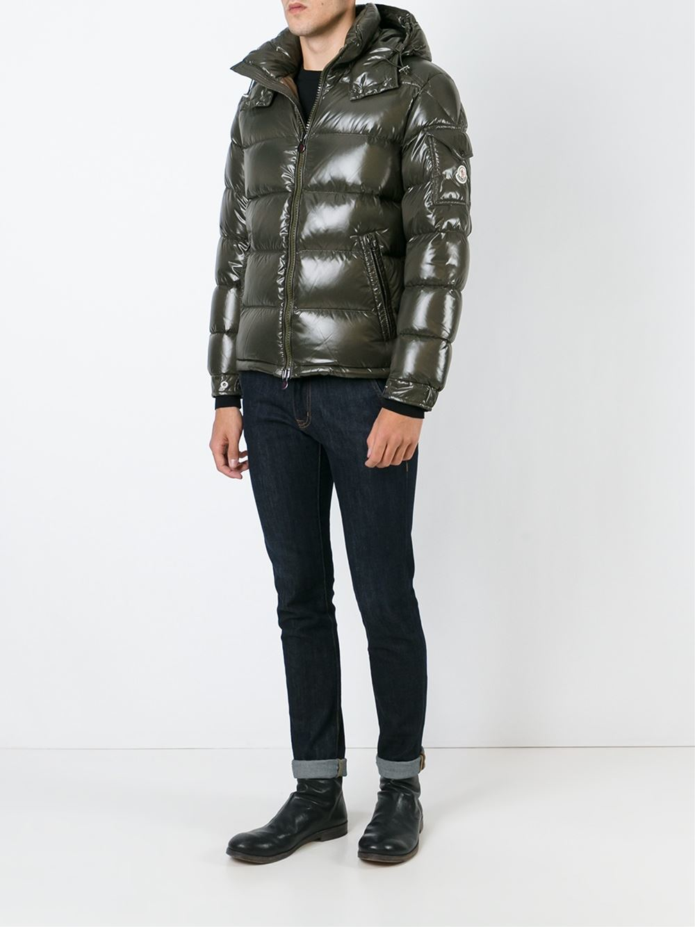 Moncler Maya Padded Jacket In Green For Men Lyst