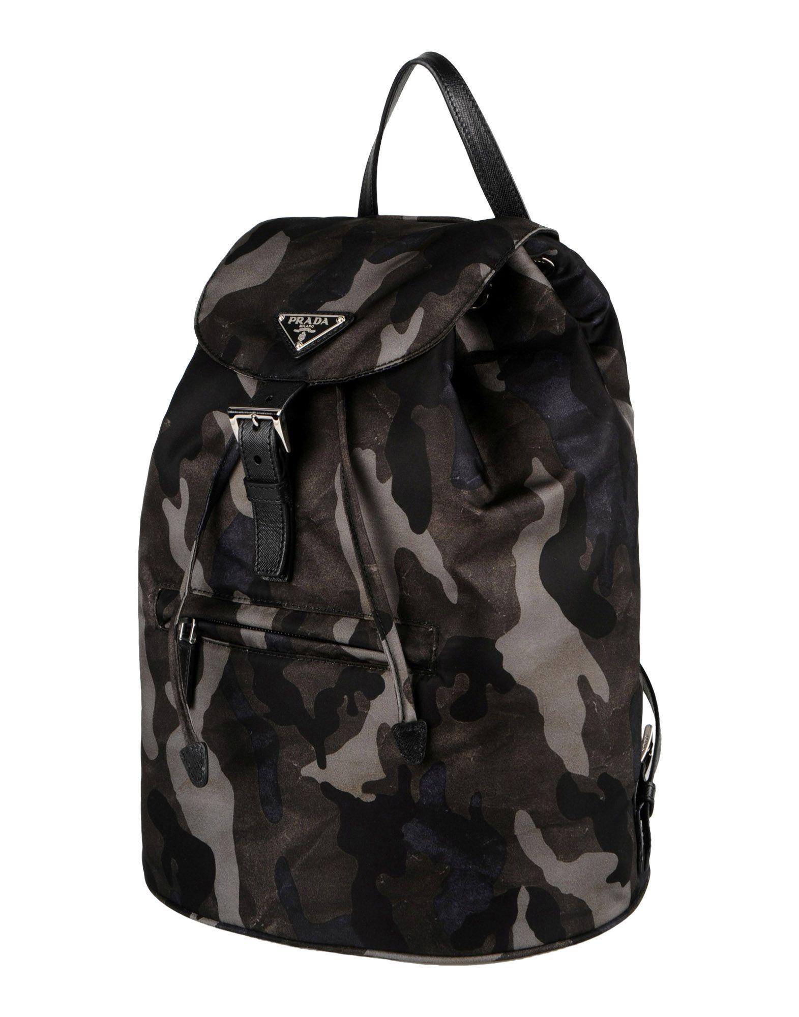 Prada Backpacks Fanny Packs in Black (Lead) | Lyst